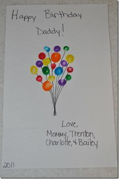 birthday card ideas for dad from toddler ; 5a2b9e2d39f3e5f34f65c211774f01d5