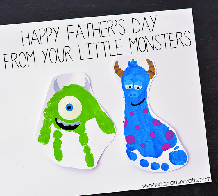 birthday card ideas for dad from toddler ; FathersDayMonsters