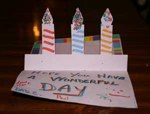 birthday card ideas for dad from toddler ; candles-birthday-card
