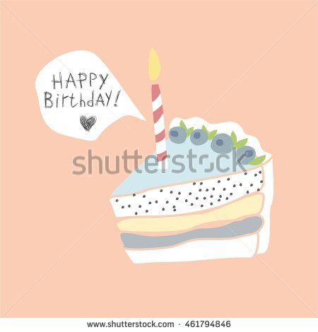 birthday card illustration ; stock-vector-cute-happy-birthday-card-with-cake-and-candles-vector-illustration-pink-birthday-card-birthday-461794846
