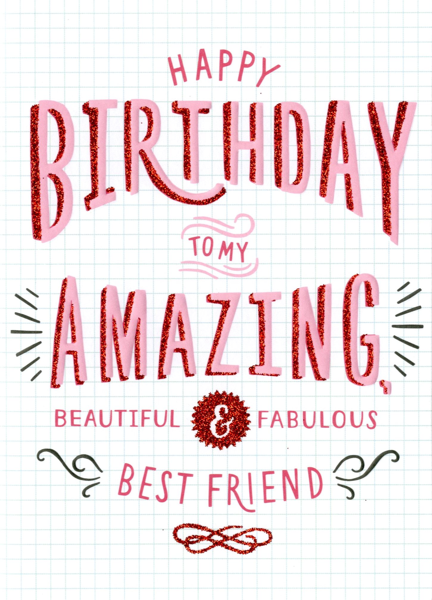 birthday card images for best friend ; HMT002