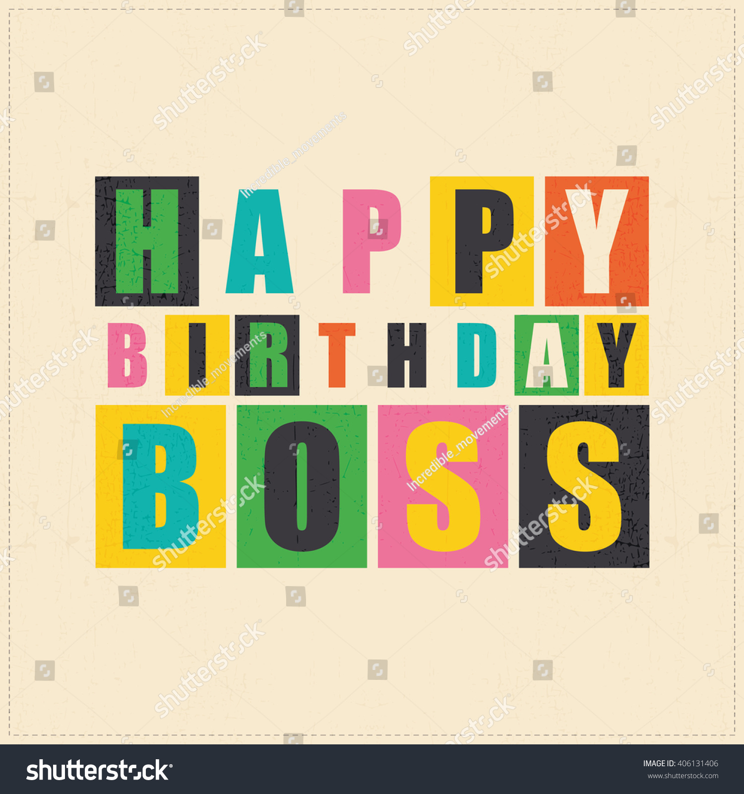birthday card images for boss ; stock-vector-happy-birthday-card-happy-birthday-boss-vector-illustration-406131406