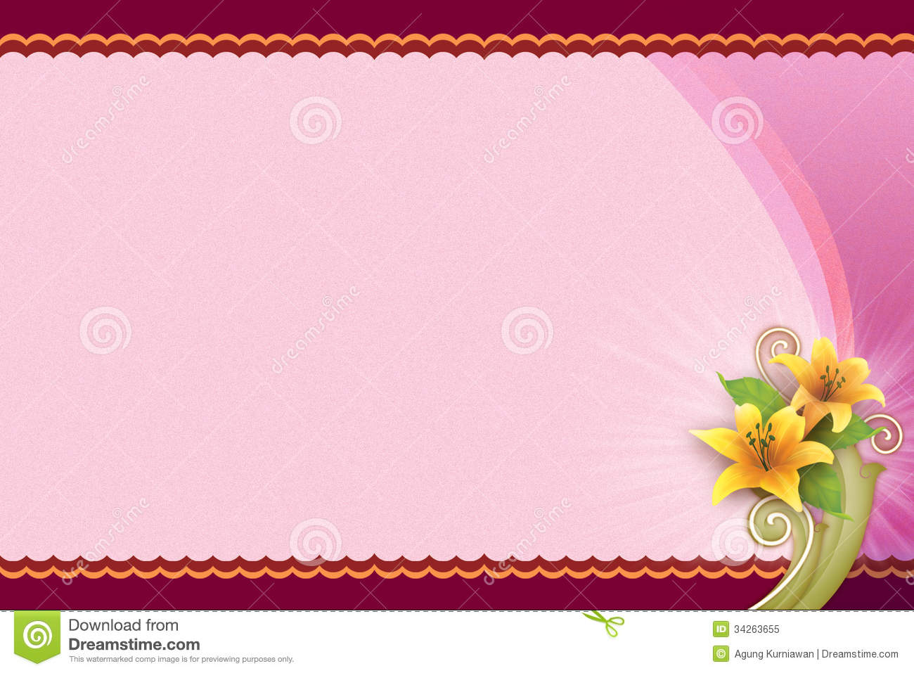 birthday card landscape ; pink-background-flower-blank-card-orientation-image-landscape-can-be-used-many-purpose-example-34263655