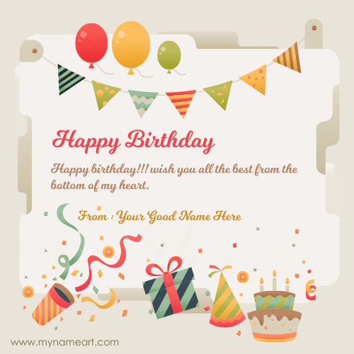 Birthday Card Maker With Name Cards Editing Online Friend
