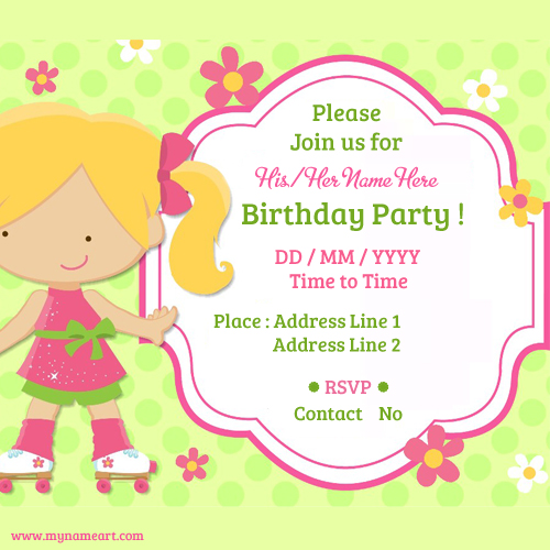 birthday card maker with name ; birthday-part-invitation-card-maker