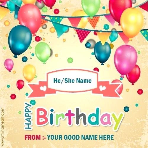 Birthday Card Maker With Name Greeting Cards Online