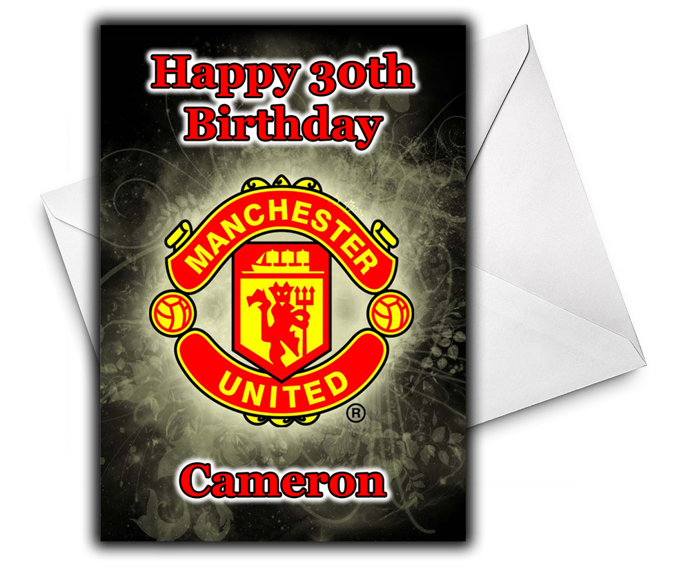 birthday card manchester united ; Manchester-United-2
