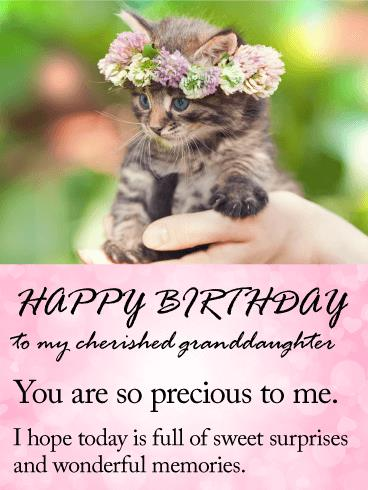 birthday card messages for granddaughter ; 8ed407c2bf518343a7ca956478291af9