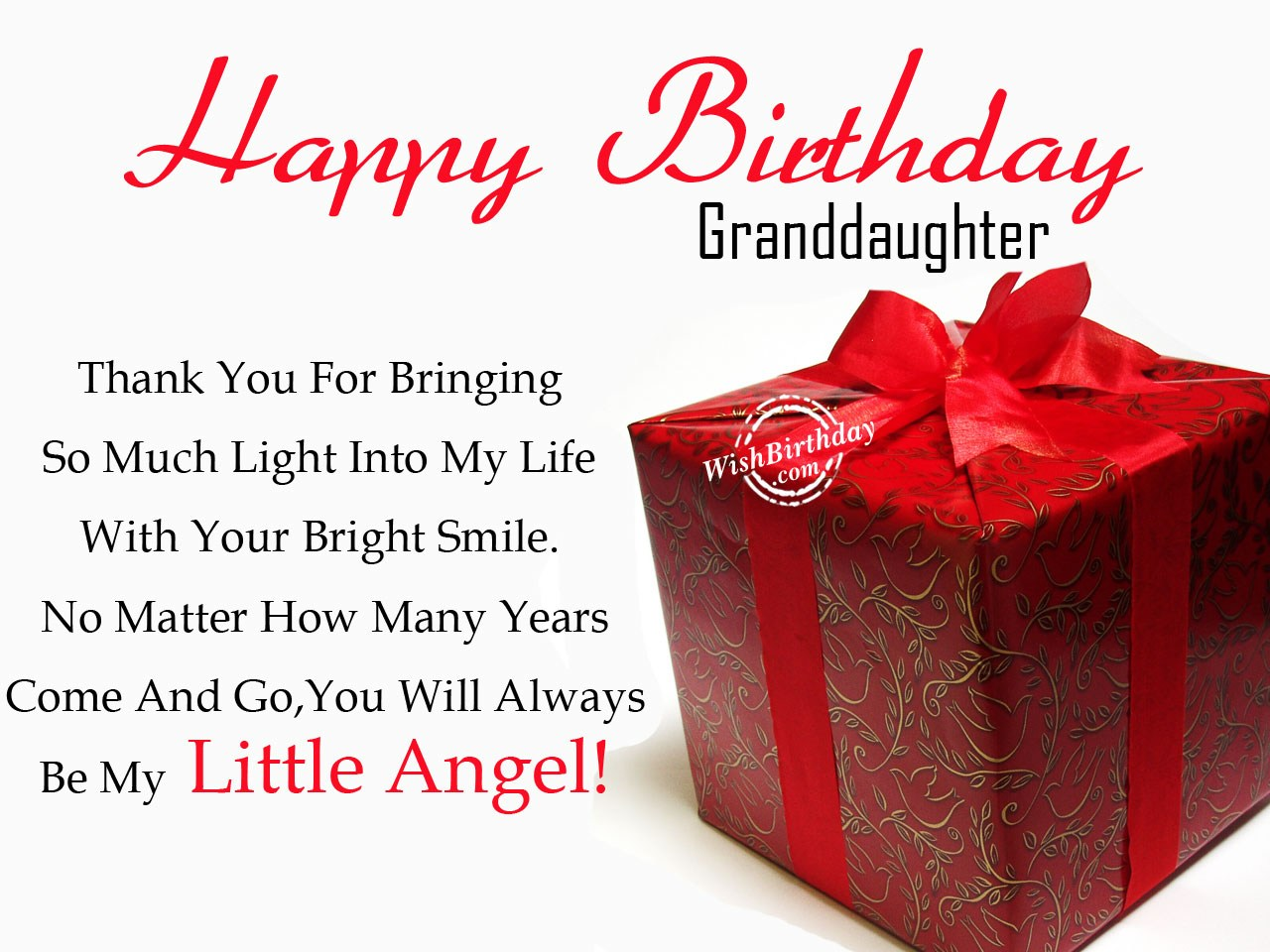 birthday card messages for granddaughter ; Be-My-Little-Angel