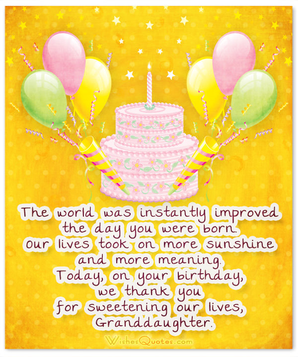 birthday card messages for granddaughter ; Granddaughter-birthday-card