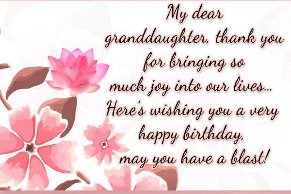 birthday card messages for granddaughter ; granddaughter-birthday