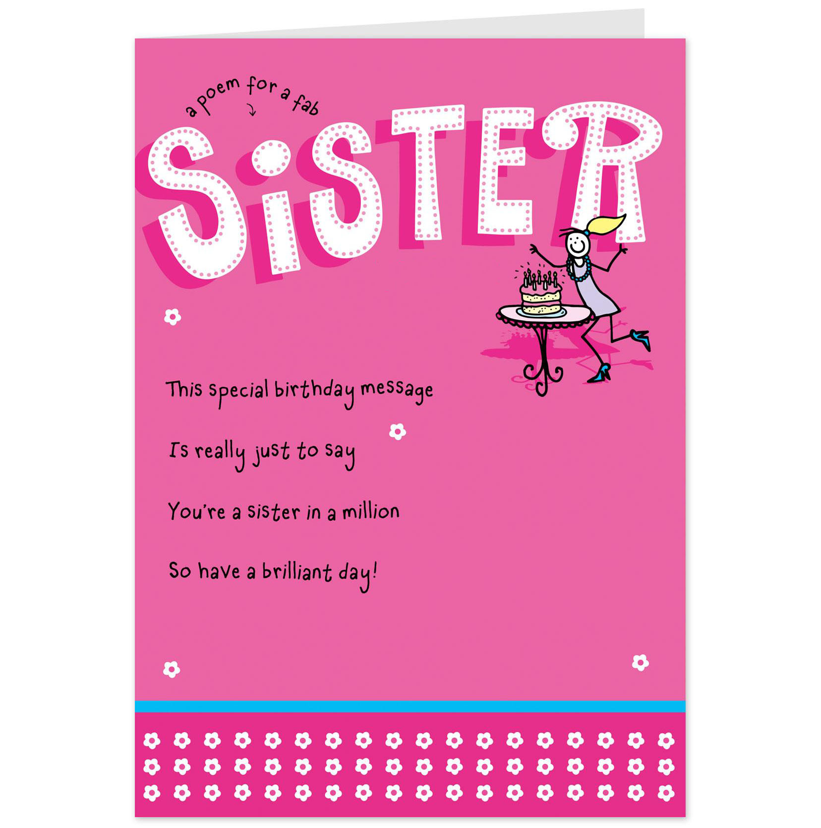 birthday card messages for sister funny ; Beauteous-Pink-Background-Colors-with-Cards-For-Sisters-and-Black-Fonts