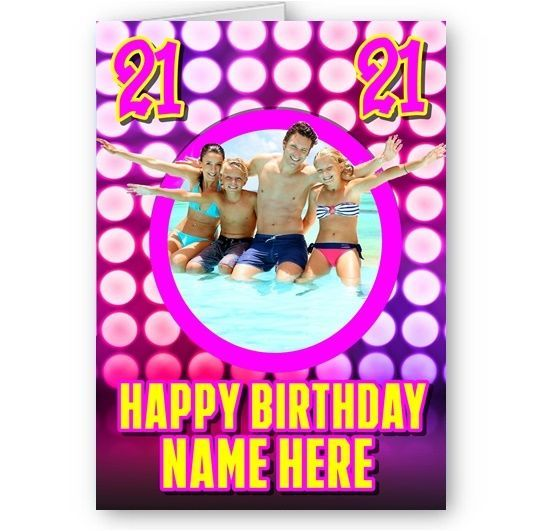 birthday card photo effect ; personalised-photo-name-age-girly-pink-3d-effect-theme-a5-happy-birthday-card-4793-p