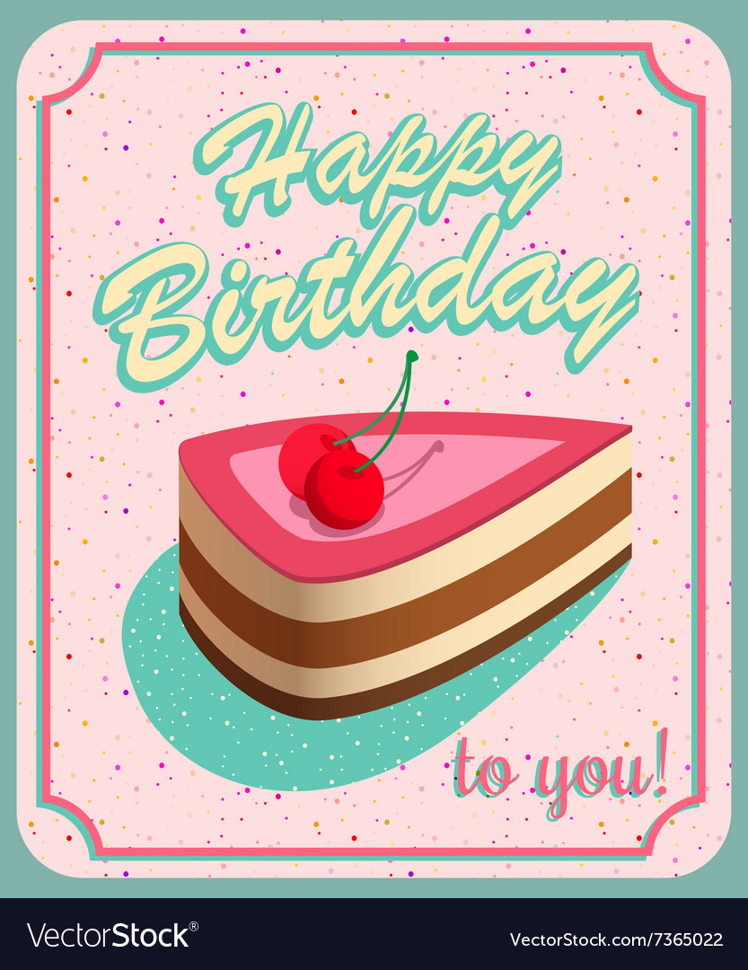 birthday card photo effect ; vintage-birthday-card-grunge-effects-can-be-vector-7365022