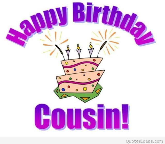 birthday card to my cousin ; Happy-birthday-card-cousin-message