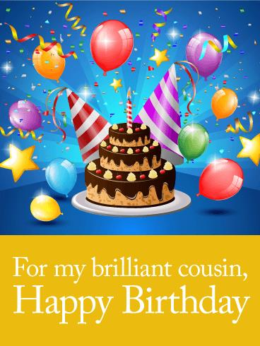 birthday card to my cousin ; b_day_fcs06-b410035475dc3f51baa685e1f689c73b