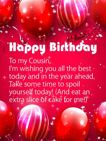 birthday card to my cousin ; b_day_fcs34-20d4b597637ff267310346c9e761add5
