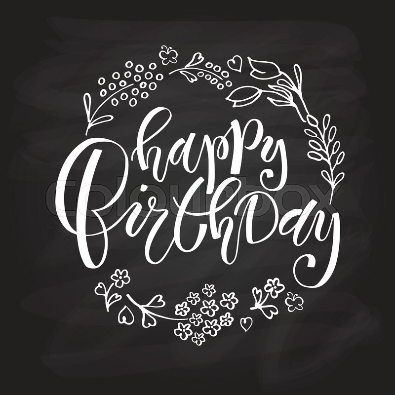 birthday card typography ; 800px_COLOURBOX18870209