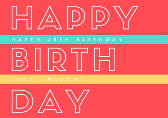 birthday card typography ; canva-cool-typography-birthday-card-MAB2sc9IcH4