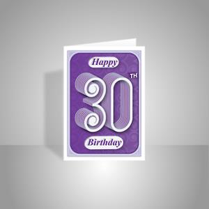 birthday card typography ; s-l300