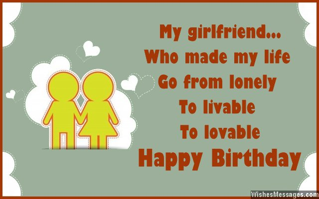 birthday card words for girlfriend ; Cute-birthday-card-wish-for-girlfriend