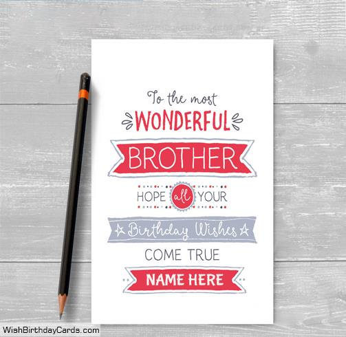 birthday cards for brother with name and photo ; best-wishes-birthday-cards-for-brother-with-namedb93