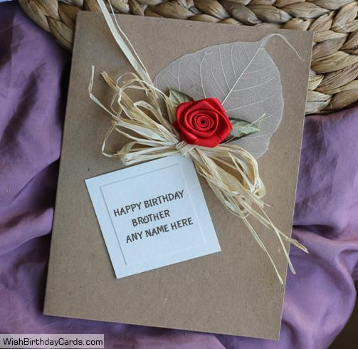 birthday cards for brother with name and photo ; red-rose-birthday-cards-for-brother-with-namea6b0