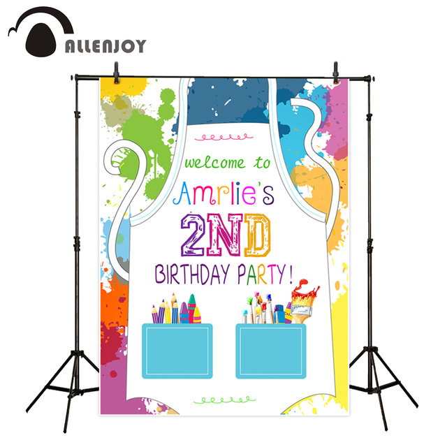 birthday color personality ; Allenjoy-photography-background-Color-ink-birthday-children-cartoon-personality-professional-festival-backdrop-photographic