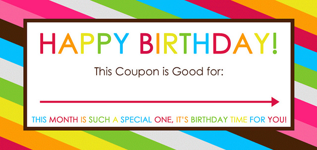 birthday coupon template ; 12023708756_ba85eb09de_z