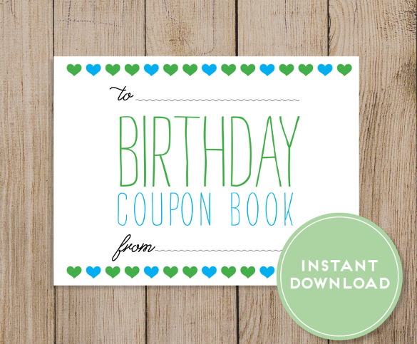 birthday coupon template ; Birthday-Coupon-Book-Download