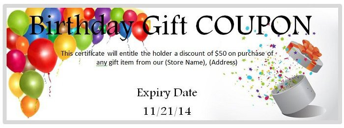 birthday coupon template ; Coupon-1