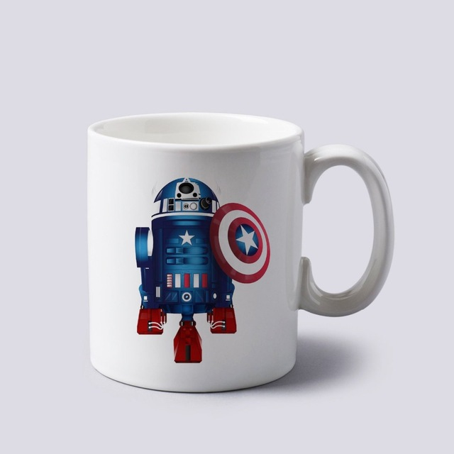 birthday cups with photo printed ; Captain-America-R2d2-star-wars-the-avengers-custom-white-mug-photo-picture-coffee-mugs-printing-printed