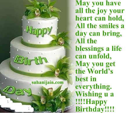 birthday day wishes quotes ; cake