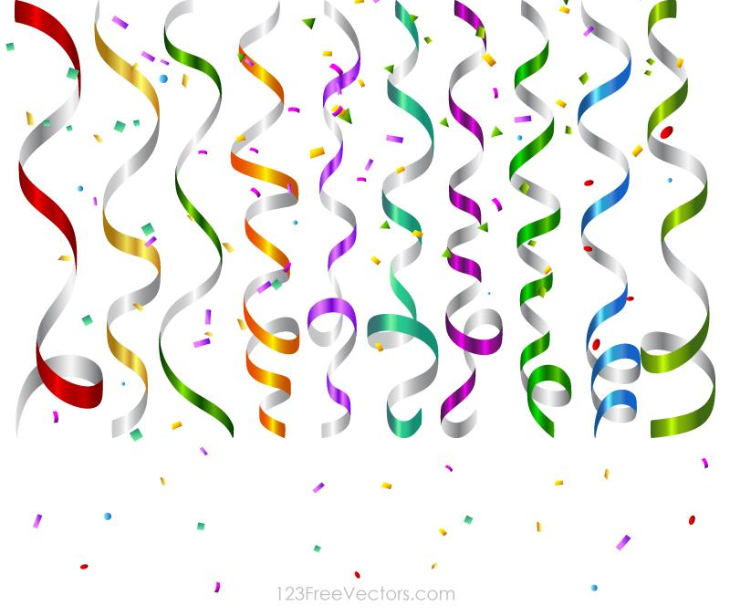 birthday design ; 1008-vector-colorful-birthday-party-streamers-and-confetti-background-design