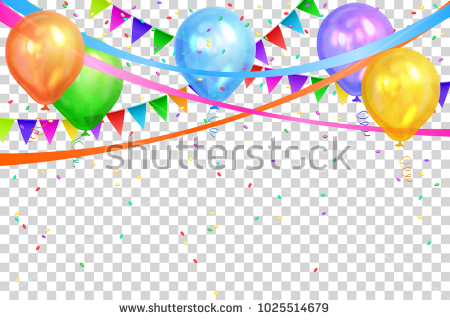 birthday design ; stock-vector-happy-birthday-design-border-of-realistic-color-balloons-and-flags-garlands-isolated-on-1025514679