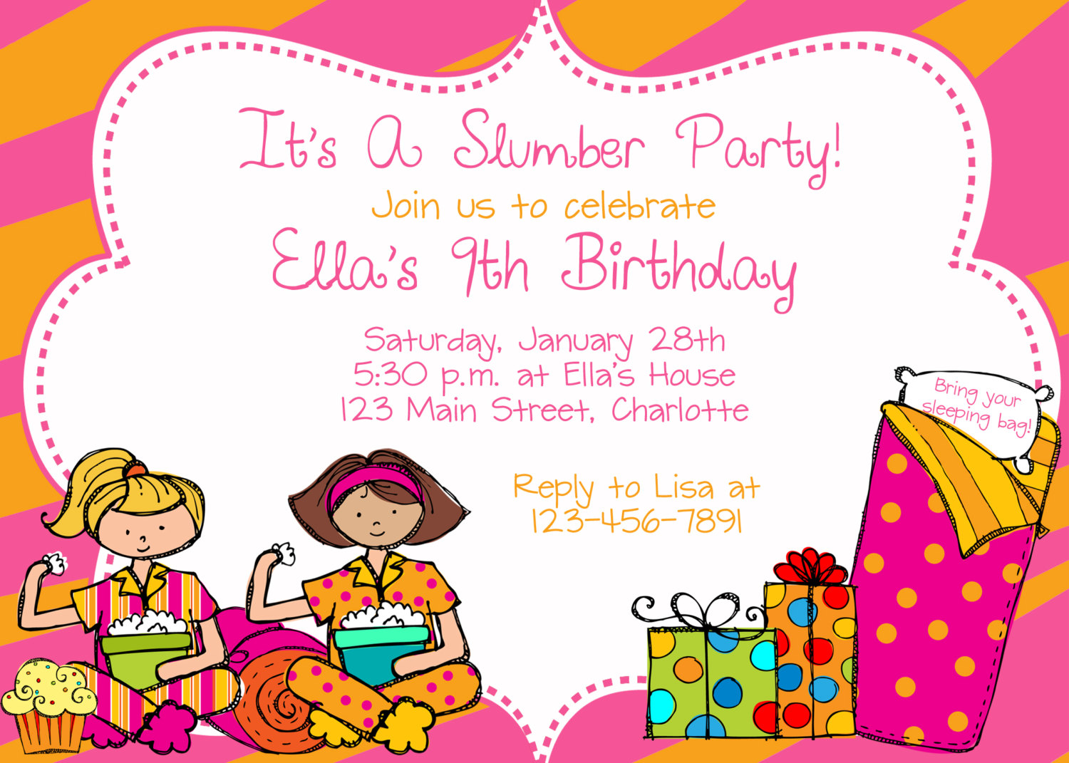 birthday dinner invitation sample ; sleepover-birthday-party-invitations-for-your-extraordinary-Party-Invitation-Templates-associated-with-beautiful-sight-using-a-exquisite-design-17