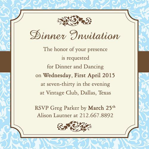birthday dinner invite message ; formal-dinner-party-invitation-wording