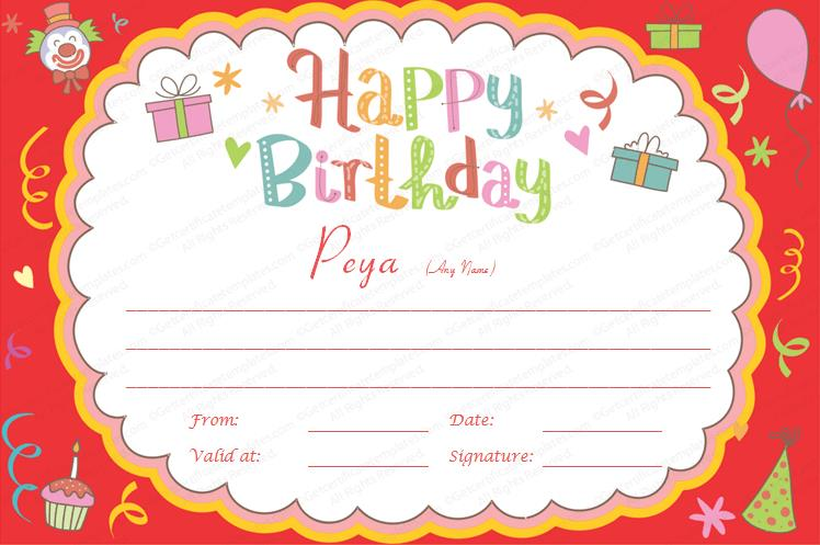 birthday gift card ; Birthday-Bash-Gift-Certificate-Template-Preview