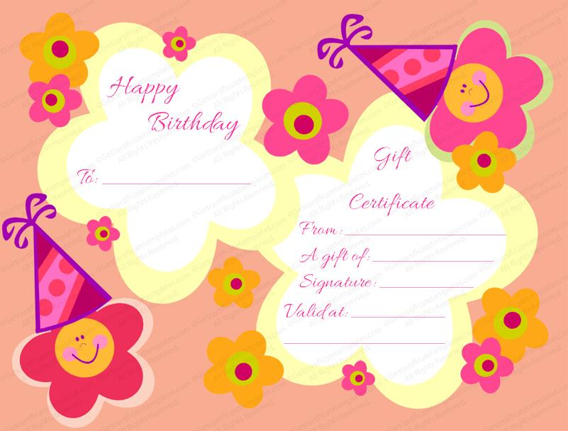 birthday gift card ; Star-Flowers-Birthday-Gift-Certificate-Template-Preview