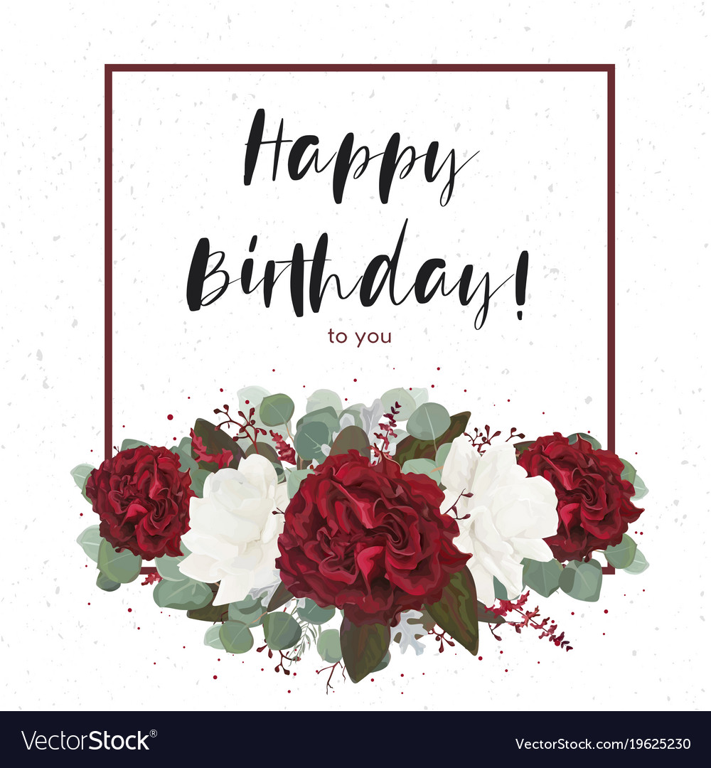 birthday gift card ; floral-happy-birthday-greeting-gift-card-design-vector-19625230