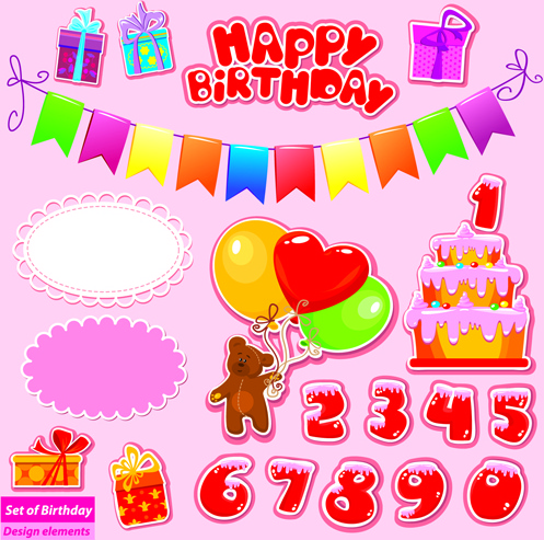 birthday gift card ; happy_birthday_gift_cards_design_vector_521959