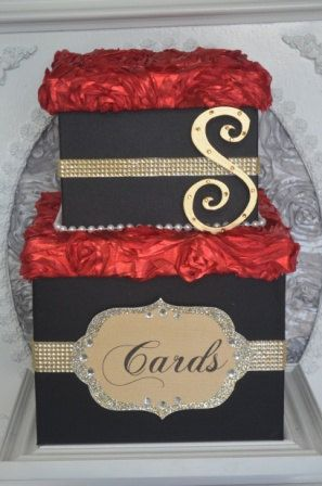 birthday gift card holder box ; 3fd2fe9c18d3fb869111dd97bb3b8560--black-red-and-gold-party-black-red-and-gold-wedding