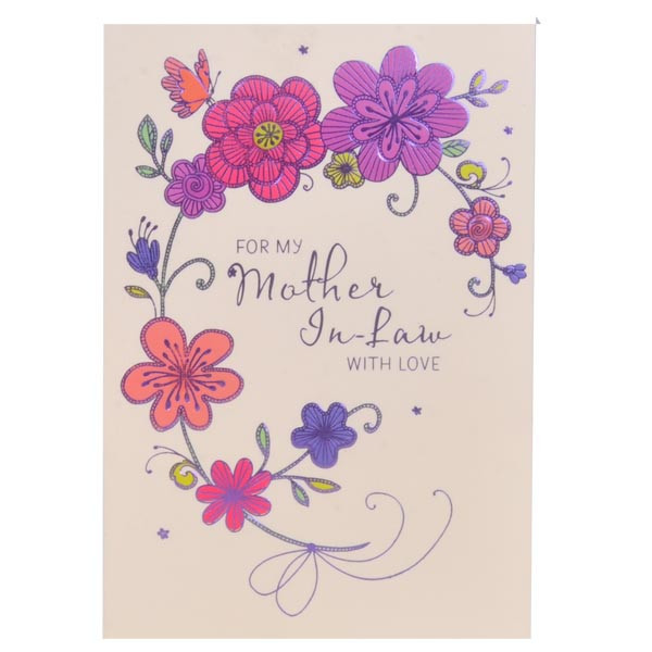 birthday greeting card for mother from daughter ; For-My-Mother-In-Law