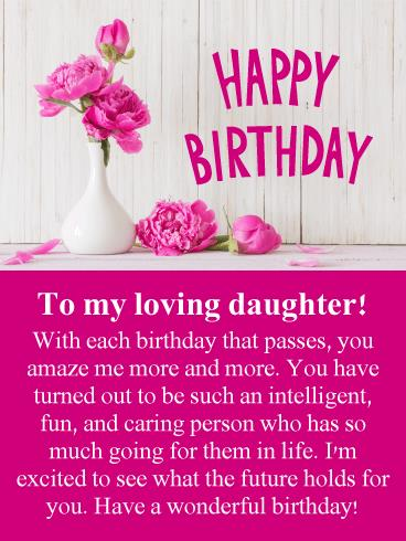 Birthday Greeting Card For Mother From Daughter Cards