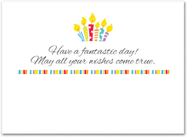 birthday greeting cards for employees ; B551in