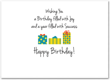 birthday greeting cards for employees ; B556in