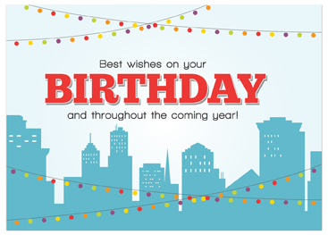 birthday greeting cards for employees ; B594