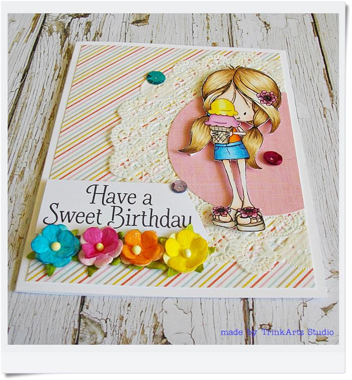 birthday greeting cards for girls ; birthday-greeting-cards-for-girls-have-a-sweet-birthday-handmade-coloured-greeting-card-girl-ideas