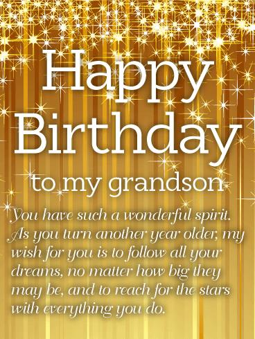 birthday greeting cards for grandson ; b_day_fgs08-38a36c3057244f8a05764a668f3feaec