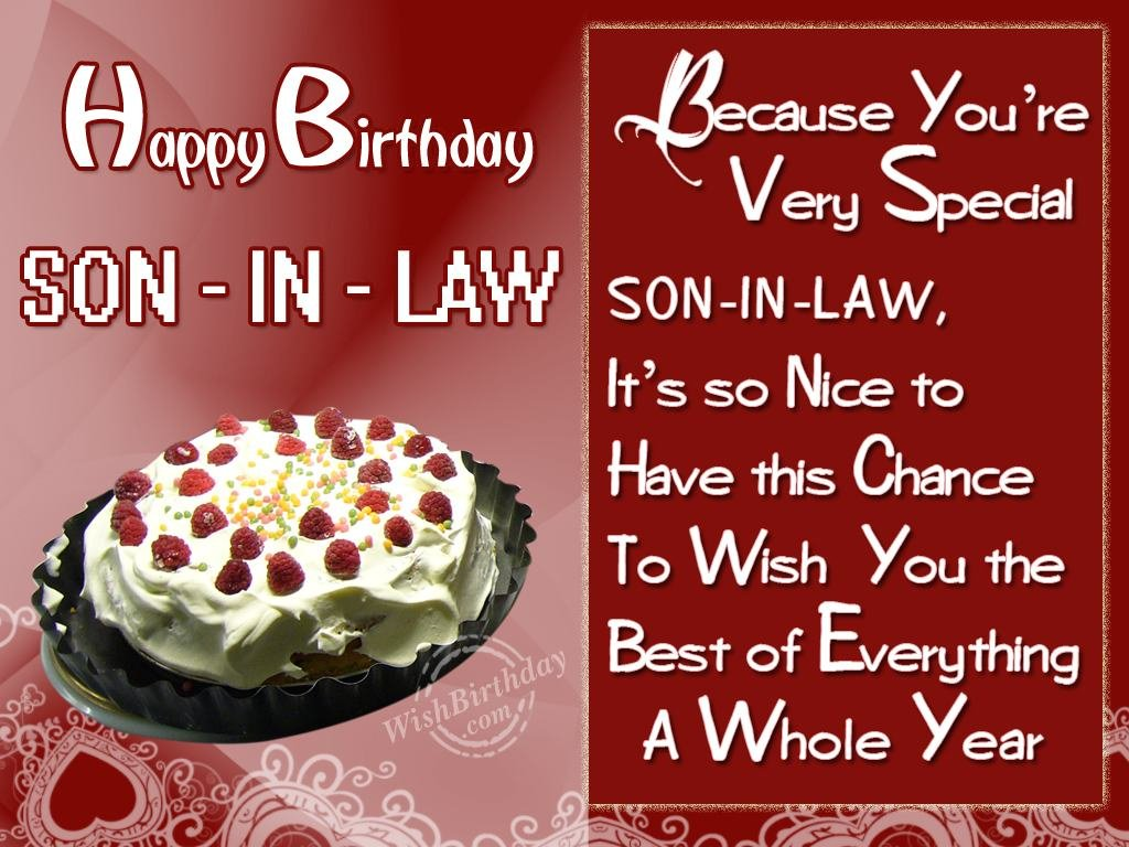 Birthday Greeting Cards For Son In Law 1085